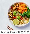 Asian Tofu Soba Noodle Bowl 40758125