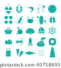 Summer Vacation Icon set,Travel symbol 40758693