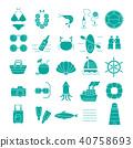 Summer Vacation Icon set,Travel symbol 40758693