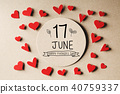 17 June Happy Fathers Day message with small hearts 40759337