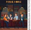 Restaurant Pub Visitors Composition 40761540