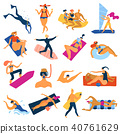 Sea Activities Icons Set 40761629