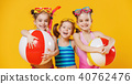 funny funny happy children  jumping in swimsuit 40762476