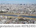 從武藏武藏和新幹線大田區Denenchofu方向看多摩川 40762493