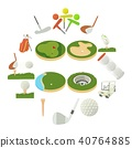 Golf items icons set, cartoon style 40764885