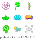 Water power icons set, cartoon style 40765313