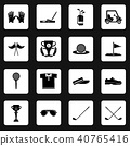 Golf icons set symbols, simple style 40765416