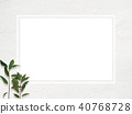 배경 - 흰 - 잎 - 프레임 40768728