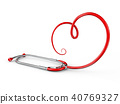 Stethoscope in the form of a heart sign 40769327