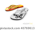 White and Spain flip flops concept travel to Spain 40769613