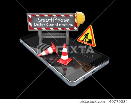 Black smart mobile phone 40770084