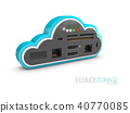 Cloud Computing Concept. isolated white 40770085