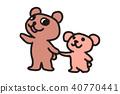 곰 가족 일러스트 40770441