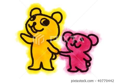 곰 가족 일러스트 40770442