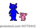 곰 가족 일러스트 40770443