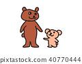 곰 가족 일러스트 40770444