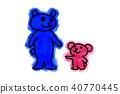 곰 가족 일러스트 40770445