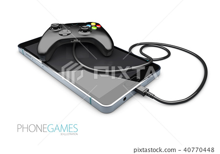 phone game controller on the smart phone 40770448