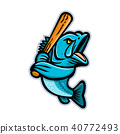 Largemouth Bass Baseball Mascot 40772493