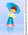 A woman holding an umbrella 40772573