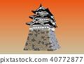 日本城堡现存的Tenshu Hirosaki Castle日落回来 40772877