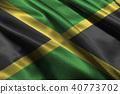 Jamaica national flag illustration symbol.  40773702