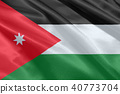 Jordan national flag illustration symbol. 40773704