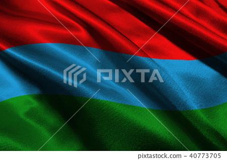 Karelia flag 3D illustration symbol. Coat of arms  40773705