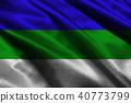 Komi Republic flag 3D illustration symbol. Komi  f 40773799