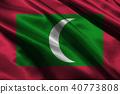 Maldives flag 3D illustration symbol 40773808