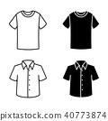 Man shirt-Clothes icon set 40773874