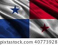 Panama flag 3D illustration symbol. Panama flag 40773928