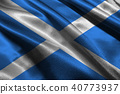 Scotland national flag 3D illustration symbol 40773937