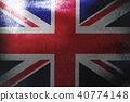 United Kingdom flag 3D illustration symbol.  40774148