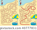 Happy kids maze 40777831