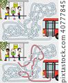 Bus stop maze 40777845