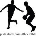 basketball player silhouette 40777960