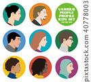 ชุดไอคอนโปรไฟล์ชายและหญิงของประเทศและเผ่าพันธุ์ต่างๆ 40778003