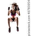 cardio boxing cross core workout fitness exercise aerobics woman 40783054