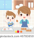 dad and son cooking 40783650
