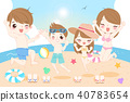 happy family on the beach 40783654