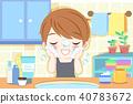 man wash his face 40783672