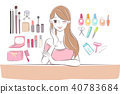 beauty cartoon skin care woman 40783684