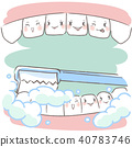 tooth with cleaning concept 40783746