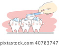 tooth with dental care 40783747
