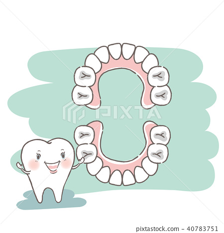 tooth with dental concept 40783751