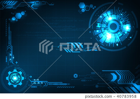 Vector background in the concept of technology. 40783958