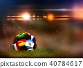 Soccer ball with different flags 40784617