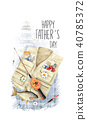 Creative postcard for Happy Father's Day. 40785372