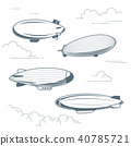 Collection of vintage airships - blimps  40785721